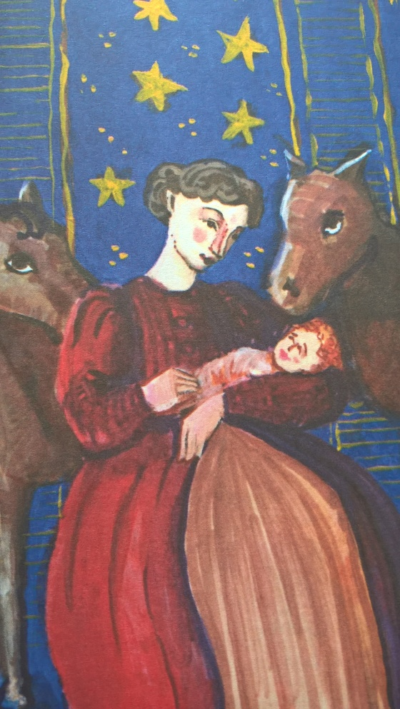 Illustration by Fiona McDonald, from The Dolls' Nativity, by Natalie Jane Prior.