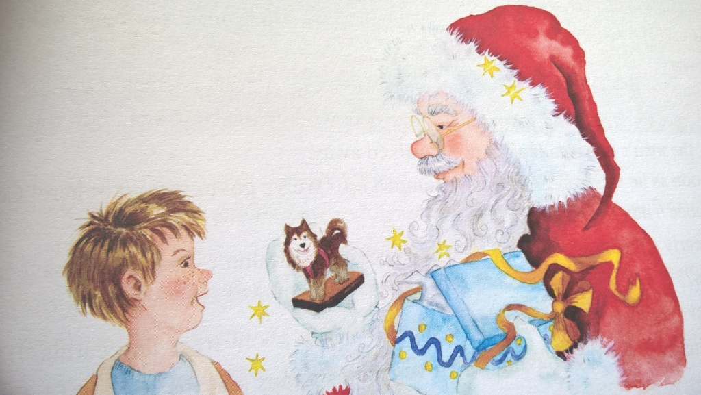Illustration by Kathy Creamer, for her own story,'What, No Christmas Toys for the children?'