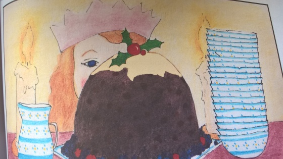 Illustration by Beattie Alvarez for George Ivanoff's 'The Pudding Prize'